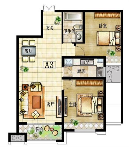 两室一厅 A3