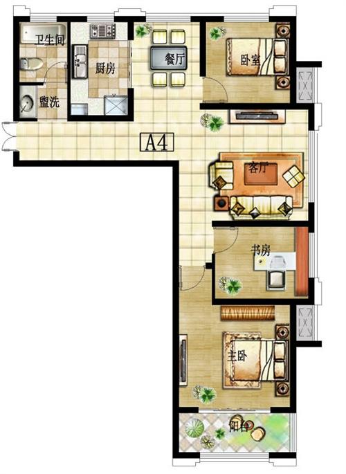 三室两厅 A4