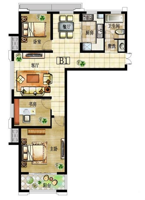 三室两厅B1