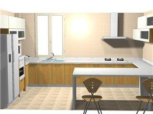 環保防水無甲醛耐用的彩色PVC廚、衣柜