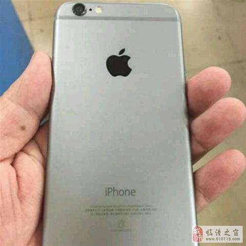 日版三网银色苹果6.16G99成新有问题白送