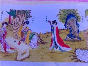 一幅《四大美女》十字繡成品圖出售