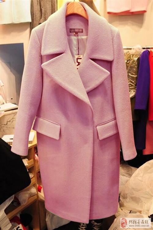 轉讓全新歐美毛呢大衣一件65%羊毛