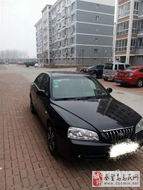 2007年黑色现代伊兰特二手车3.7万元