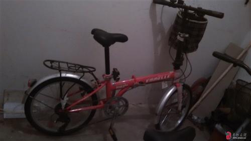出售全新阿米尼变速折叠自行车一辆