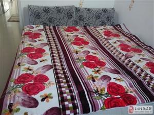 出售九成新布艺床