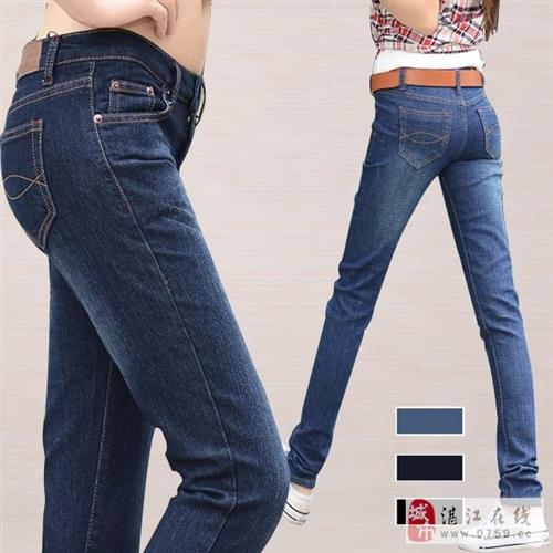 2015春季新款韩范高腰牛仔裤女弹力小脚裤修身
