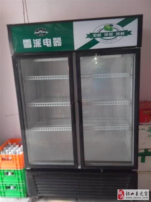 出售78新使用中的欧派双开门冷柜