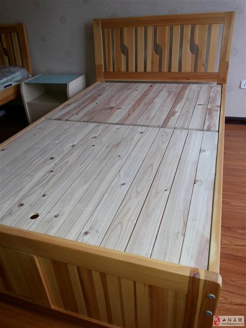 转让一张实木单人床