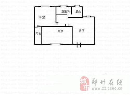 2室1厅1卫  南70米