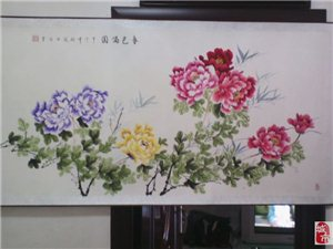 出售牡丹国画作品