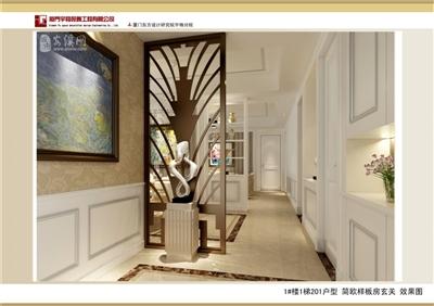 1#楼1梯201户型 简欧样板房玄关.