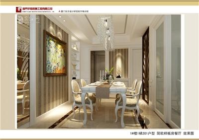 1#楼1梯201户型 简欧样板房餐厅