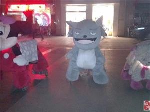 交城广场智能计时控制毛绒玩具车