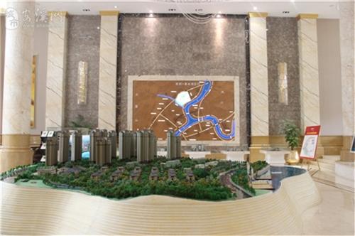 清水湾售楼中心沙盘1