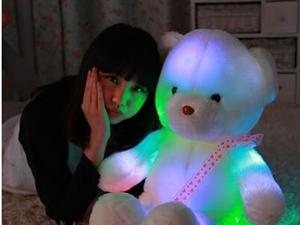 发光泰迪熊毛绒玩具熊公仔抱抱熊抱心熊生日礼物女