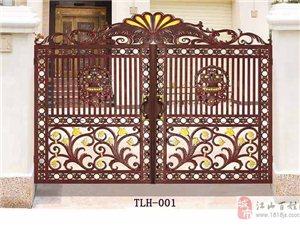 江山市銅鑼漢門業專業生產銅鋁門 庭院大門 地彈簧門