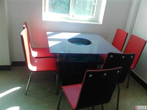出售9成新火锅桌椅6套