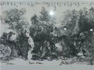 高亢 国画 经典 山水 画中画