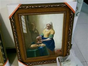 出售油画,国画,手绘,可订制。承接各种墙体彩绘。