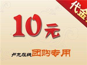 [卢龙在线]抵兑金额10元优惠券