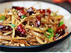 莱阳美食街-美味家常菜之干煸杏鲍菇