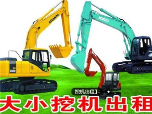 大中小型挖机出租(带破碎)
